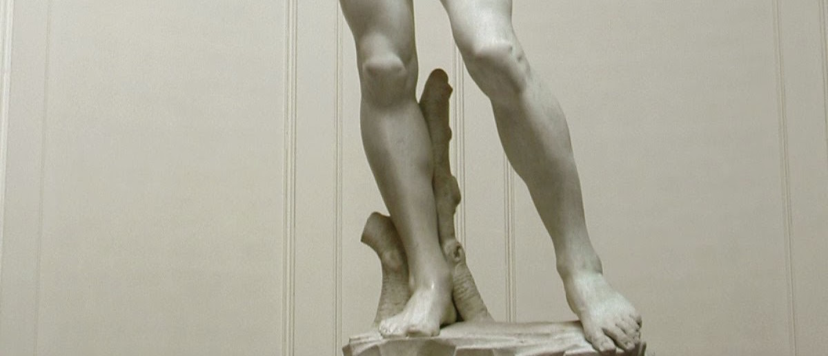 Legs of the David sculpture by Michelangelo