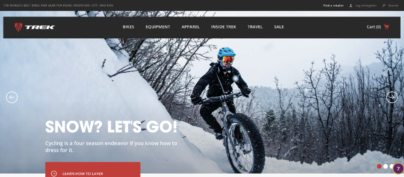 High-quality website photography from Trek