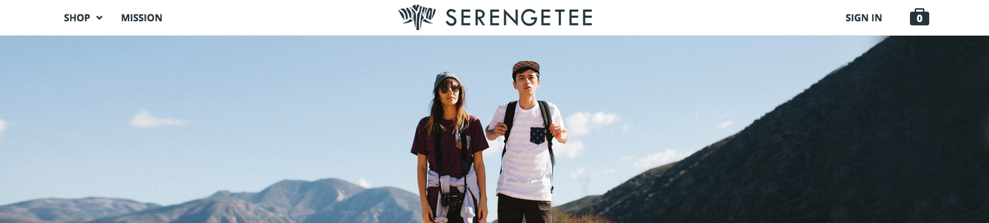 Banner from Serengetee's website