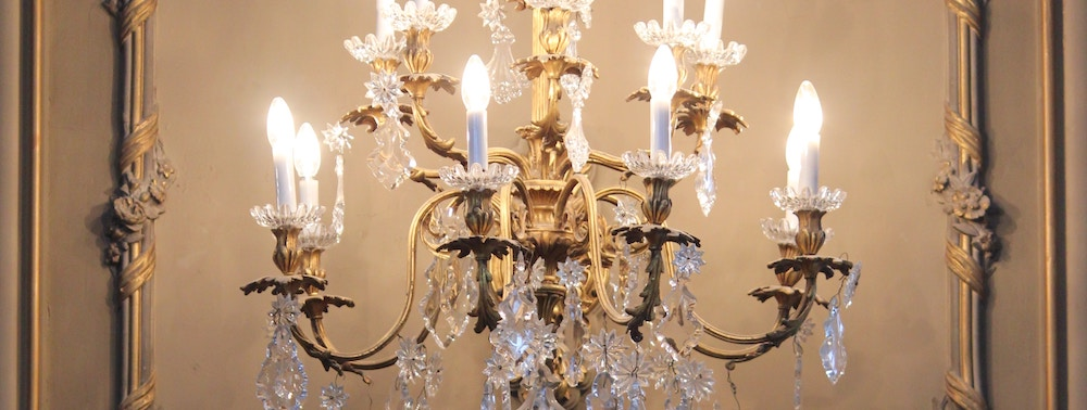 A luxurious chandelier