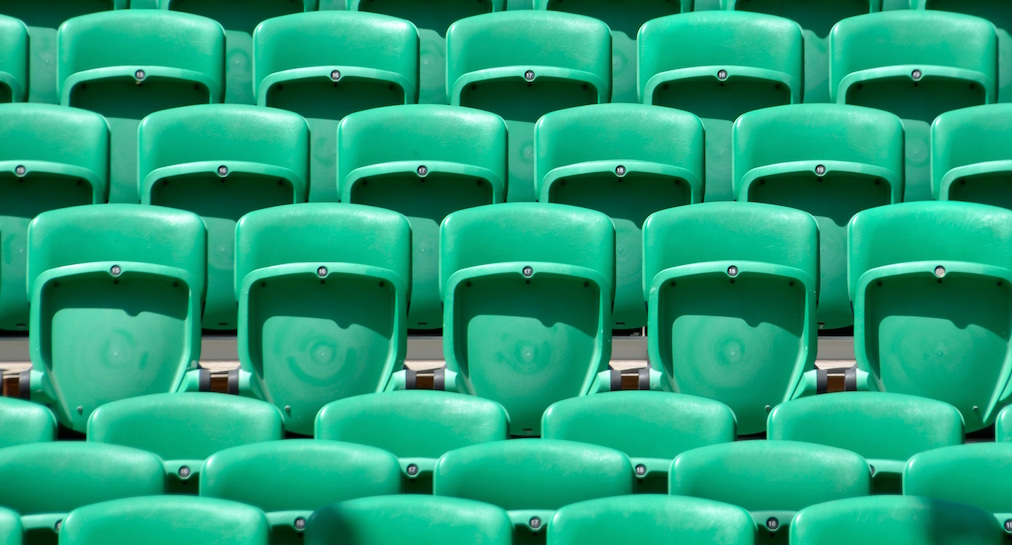 Patterns in chairs at a stadium