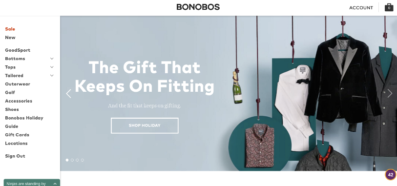 Bonobos website big picture style