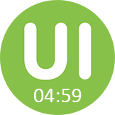 "Green ""UI"" bubble from the TryMyUI mobile user testing app"