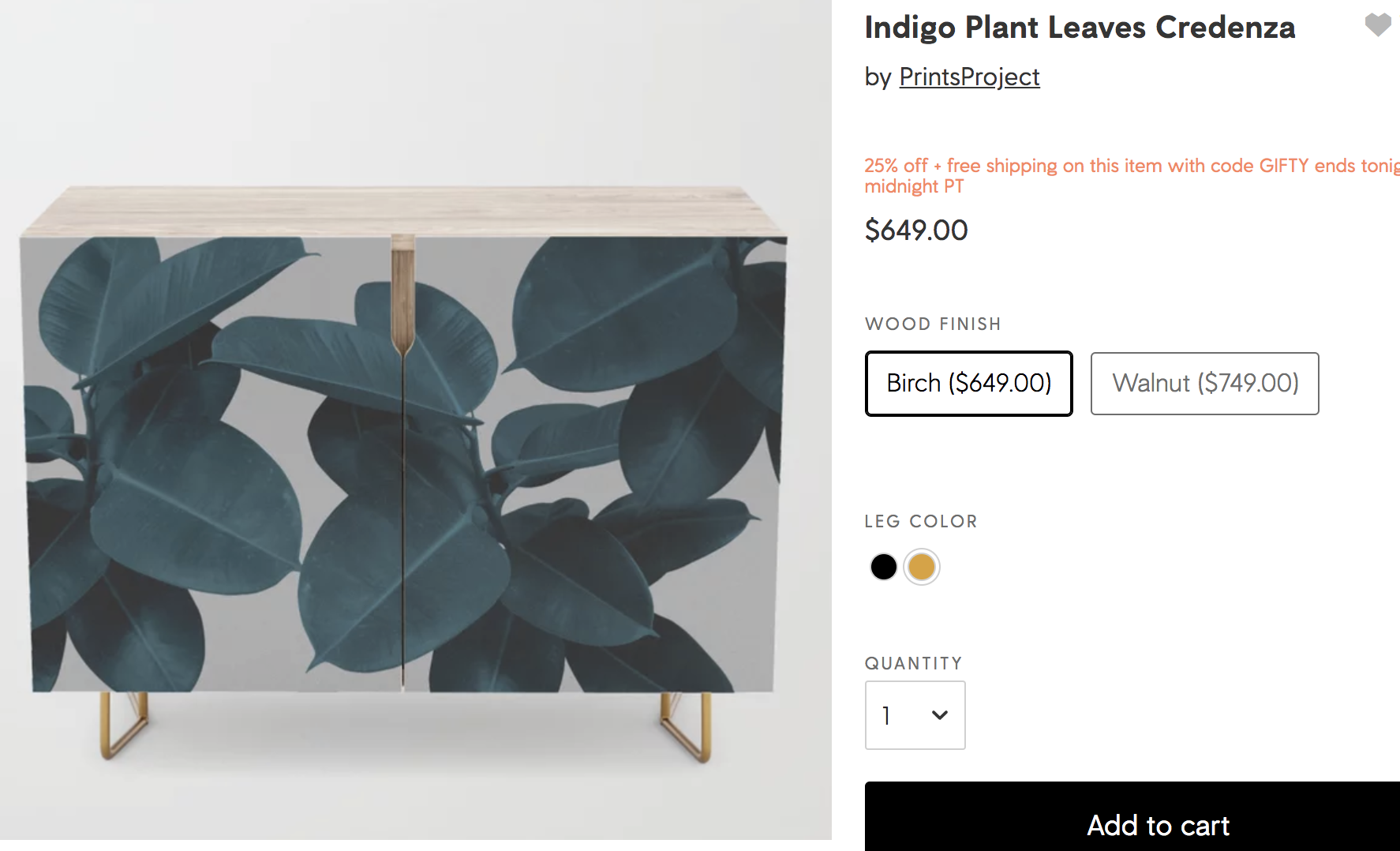 Society 6 UX design helps shoppers find similar styles.