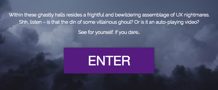 Text from the House of Horrors landing page