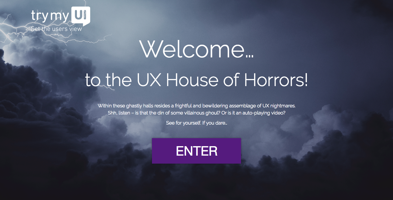 UX House of Horrors entry page