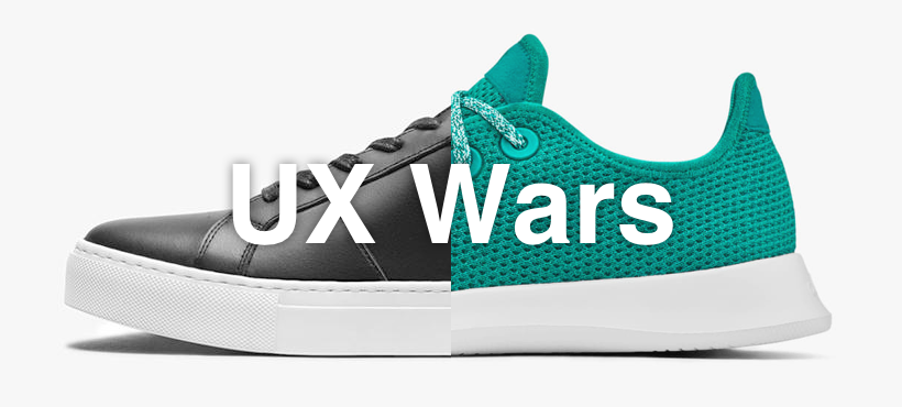 UX Wars Greats vs Allbirds