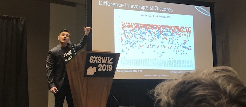 UX research presentation at SXSW 2019