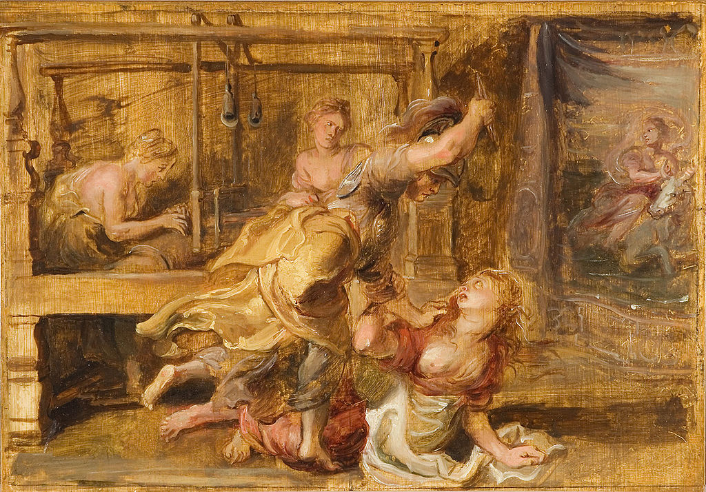 Pallas and Arachne painting peter paul rubens ux design inspiration