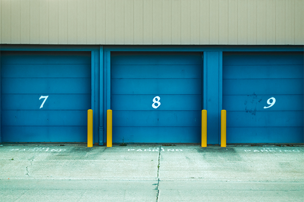 garage doors closed with numbers 7 8 and 9 TryMyUI
